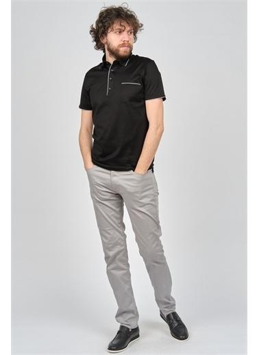 Arslanlı Arslanlı Erkek Cep Detaylı Polo Yaka T-Shirt  Siyah